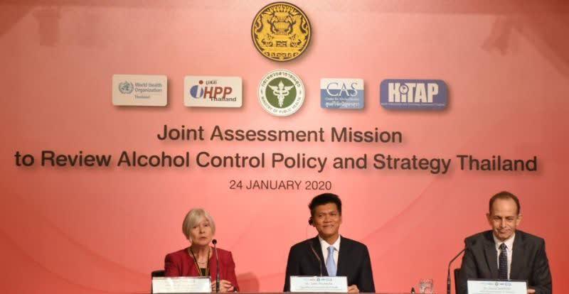 Global assessment team praises Thailand's alcohol consumption control